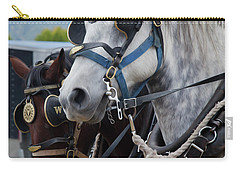 Percheron Horses Carry-all Pouch by Theresa Tahara