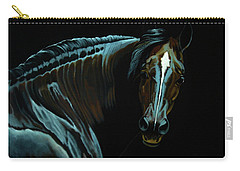Percheron Mare In The Moonlight Carry-all Pouch