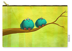 Perching Fluffs Carry-all Pouch by Andy Catling