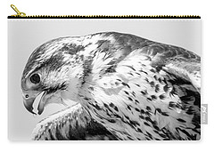 Peregrine Falcon In Black And White Carry-all Pouch