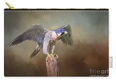 Peregrine Falcon Taking Flight Carry-all Pouch
