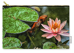 Perfect Beauty And Koi Companion Carry-all Pouch