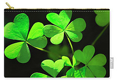 Perfect Green Shamrock Clovers Carry-all Pouch by Christina Rollo