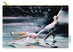 Olympic Figure Skating Paintings Carry-All Pouches