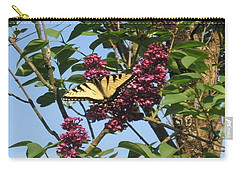 Yellow Swallowtail And Lilac Carry-all Pouch