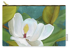 Carry-all Pouch featuring the painting Perfection - Magnolia Blossom Floral by Audrey Jeanne Roberts