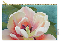 Carry-all Pouch featuring the painting Perfection - Single Tulip Blossom by Audrey Jeanne Roberts