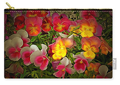 Radiance Pansies Carry-all Pouch