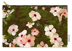 Carry-all Pouch featuring the digital art Periwinkle by David Blank