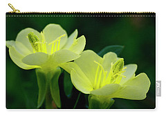 Perky Primroses Carry-all Pouch by Shelly Gunderson