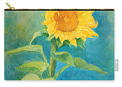 Perky Sunflower Colorful Painting Carry-all Pouch