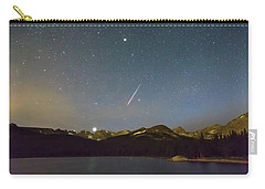 Carry-all Pouch featuring the photograph Perseid Meteor Shower Indian Peaks by James BO Insogna