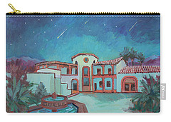 Carry-all Pouch featuring the painting Perseids Meteor Shower From La Quinta Museum by Diane McClary
