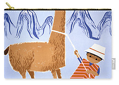 Peru Vintage Travel Poster Restored Carry-all Pouch