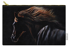 Carry-all Pouch featuring the painting Peruvian Paso Horse by David Stribbling