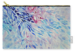 Carry-all Pouch featuring the painting Petals And Ice by Joanne Smoley