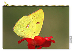 Carry-all Pouch featuring the photograph Petals And Wings by Sheila Brown