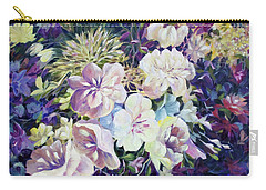 Carry-all Pouch featuring the painting Petals by Joanne Smoley