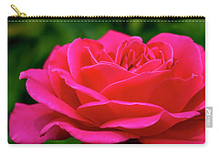 Petals Of A Bright Pink Rose Carry-all Pouch by Teri Virbickis