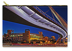 Petco Park And The Harbor Drive Pedestrian Bridge In Downtown San Diego  Carry-all Pouch