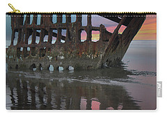 Peter Iredale Shipwreck At Sunrise Carry-all Pouch