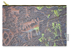 Petroglyph Wolf Attack Carry-all Pouch