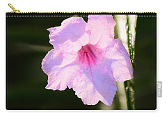 Petunia And Soft Light Carry-all Pouch by Warren Thompson