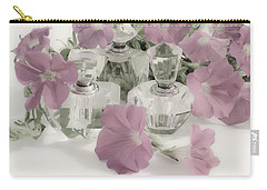 Petunias And Perfume - Soft Carry-all Pouch by Sandra Foster