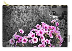 Carry-all Pouch featuring the photograph Petunias In Brooklyn Circa 2006 by Iowan Stone-Flowers