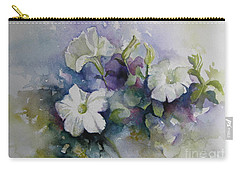 Petunias In Summer Carry-all Pouch by Elena Oleniuc