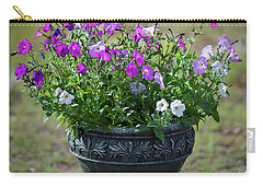 Petunias In The Chico Carry-all Pouch