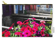 Carry-all Pouch featuring the photograph Petunias Of Amiens by Therese Alcorn