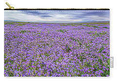 Phacelia Field And Clouds Carry-all Pouch