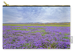 Carry-all Pouch featuring the photograph Phacelia Field by Marc Crumpler