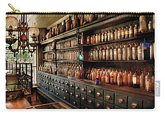 Pharmacy - So Many Drawers And Bottles Carry-all Pouch by Mike Savad