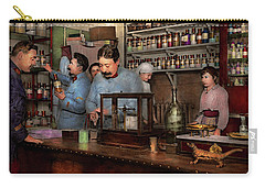 Carry-all Pouch featuring the photograph Pharmacy - The Dispensing Chemist 1918 by Mike Savad