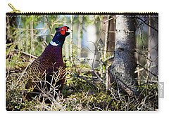 Pheasant In The Forest Carry-all Pouch
