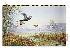 Pheasants In Flight  Carry-all Pouch by Carl Donner