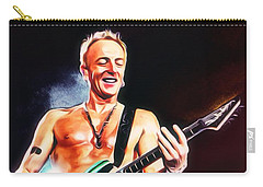 Phil Collen Portrait Carry-all Pouch by Scott Wallace