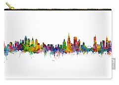 Philadelphia And Chicago Skylines Mashup Carry-all Pouch