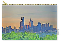 Philadelphia At Sunrise Carry-all Pouch by Bill Cannon