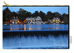 Philadelphia Boathouse Row At Twilight Carry-all Pouch by Gary Whitton