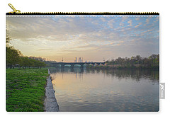 Carry-all Pouch featuring the photograph Philadelphia Cityscape From The Schuylkill In The Morning by Bill Cannon