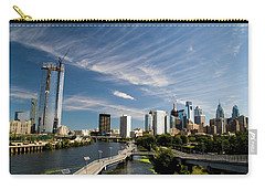 Carry-all Pouch featuring the photograph Philadelphia From The Schuylkill by Christopher Woods