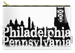 Carry-all Pouch featuring the photograph Philadelphia Pennsylvania by Christopher Woods