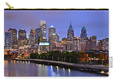 Philadelphia Philly Skyline At Dusk From Near South Color Panorama Carry-all Pouch