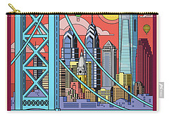 Philadelphia Pop Art Travel Poster Carry-all Pouch