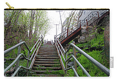 Carry-all Pouch featuring the photograph Philadelphia - Roxborough Avenue Steps by Bill Cannon