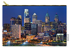 Philadelphia Skyline At Night Carry-all Pouch