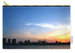 Philadelphia Skyline Low Horizon Sunset Carry-all Pouch